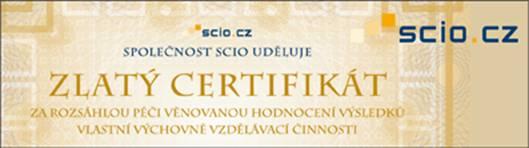 SCIO - Zlatý certifikát